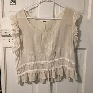 Free people shirt sleeve shirt